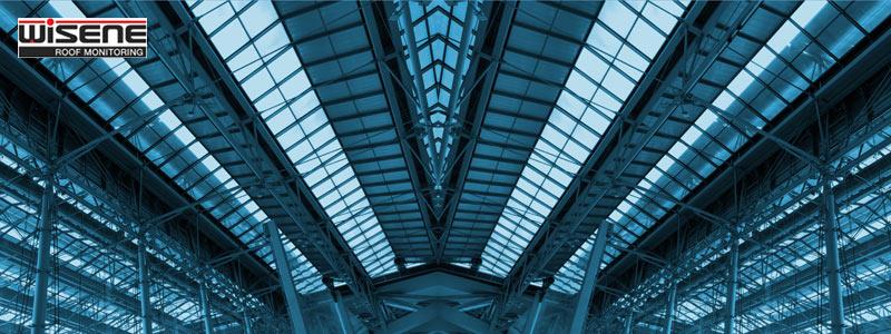 Zdjęcie przedstawia przykładowy dach monitorowanej hali