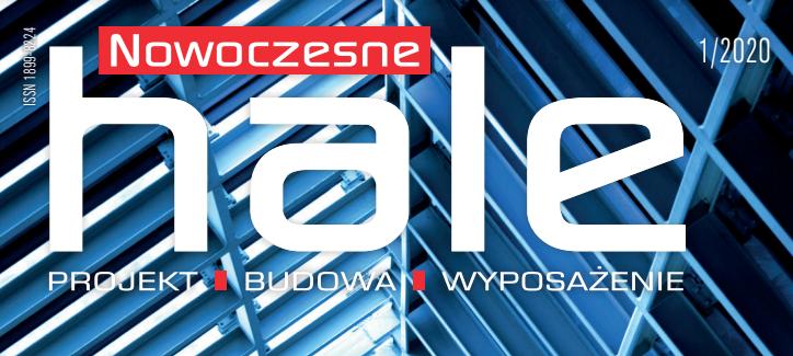 Okładka czasopisma Nowoczesne Hale 01/2020